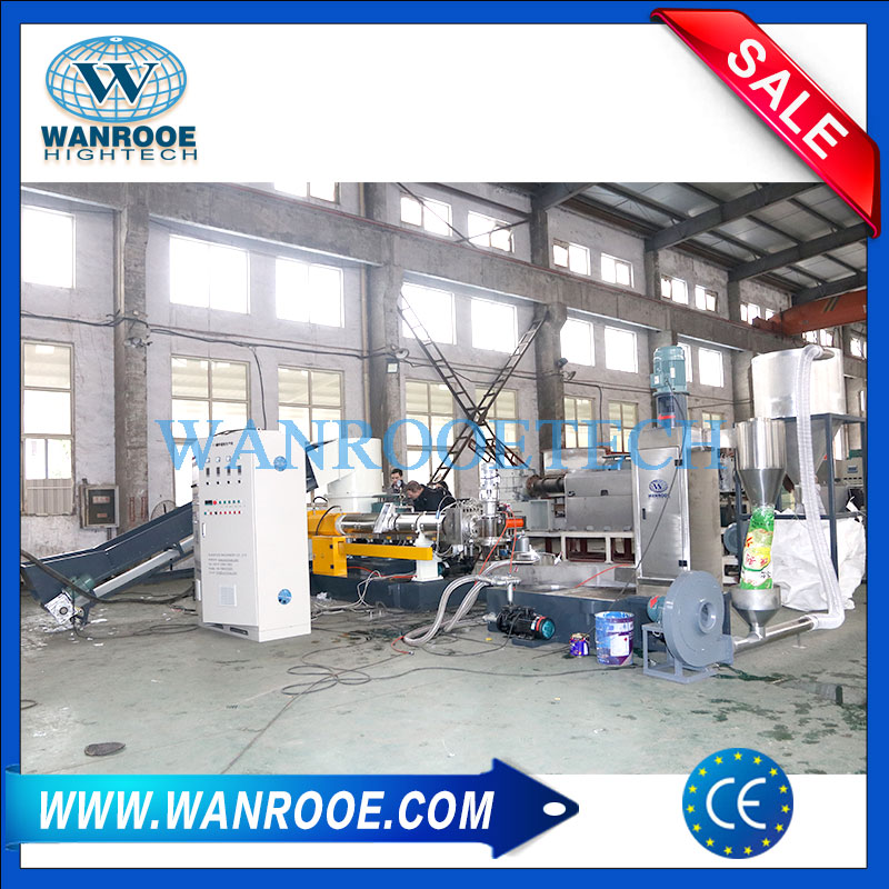 PP PE film pelletizing machine, BOPP film granulating machine, BOPP film pelletizing machine, BOPP film pelletizer,PP PE film granulating line