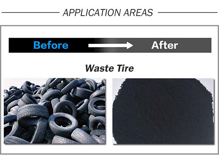 Tire Rubber Powder Production Line Tire Rubber Pulverizer
