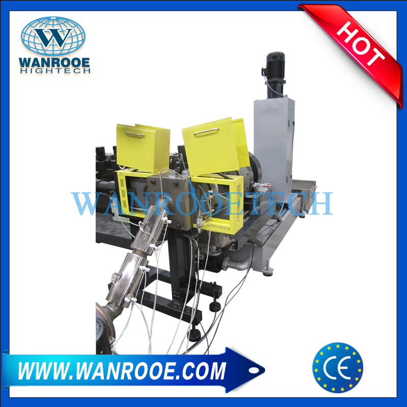 Double Stage Non-Wovenn Melt Blowing Compactor-Pelletizing Machine