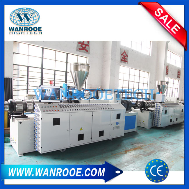 PVC pipe extruder machine,PVC pipe twin screw extruder, Pipe conical twin screw extruder