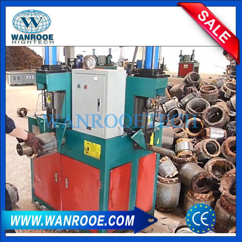 motor stator recycling machine, motor stator disassembling machine, motor stator stripping machine, motor copper drawing machine