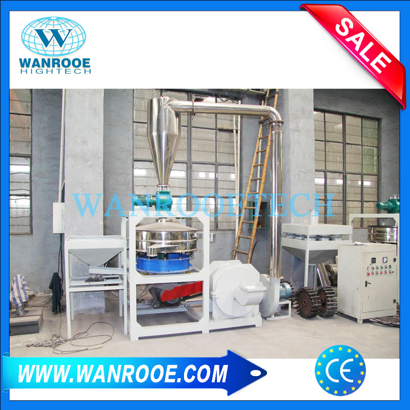 PET Powder Making Machine, PET Resin Pulverizer, PET Resin Mill, PET Flakes Pulverizer, PET Recycling Machine