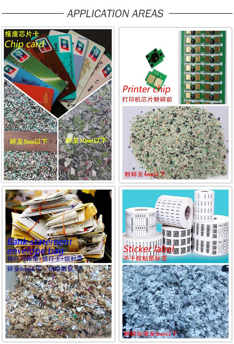 CD Shredder, Envelopes Shredder, Smart Chip Card Shredder, Plastic Ferrule Shredder, Best Credit Card Shredder