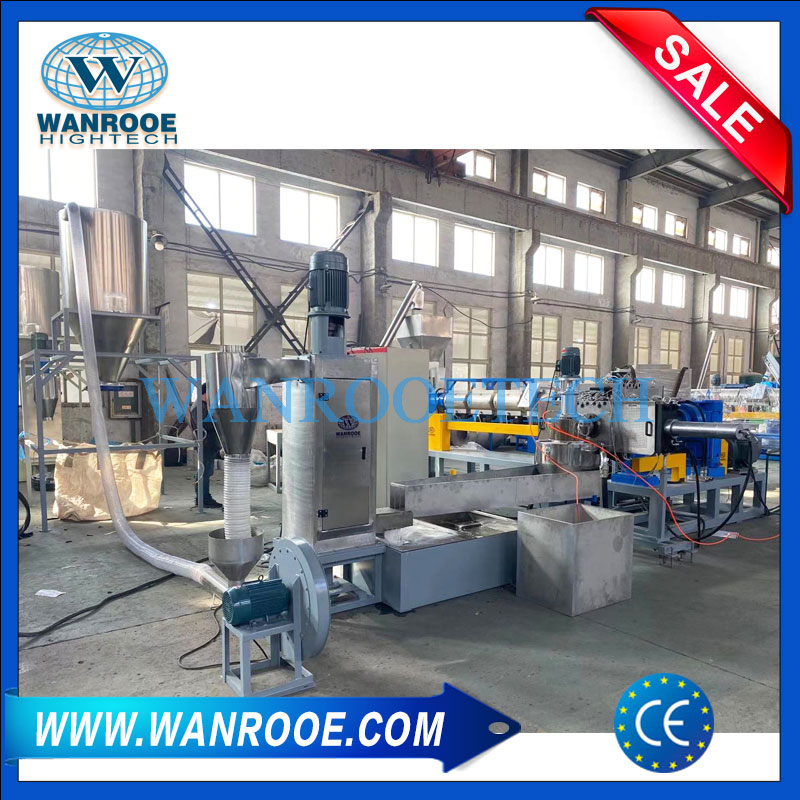 waste plastic recycling pelletizing machine, plastic flake pelletizer, plastic bottle pelletizer, HDPE bottle pelletizer, plastic pelletizing machine