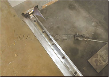 CNC Control System Straight Knife Grinding Machine straight square rail